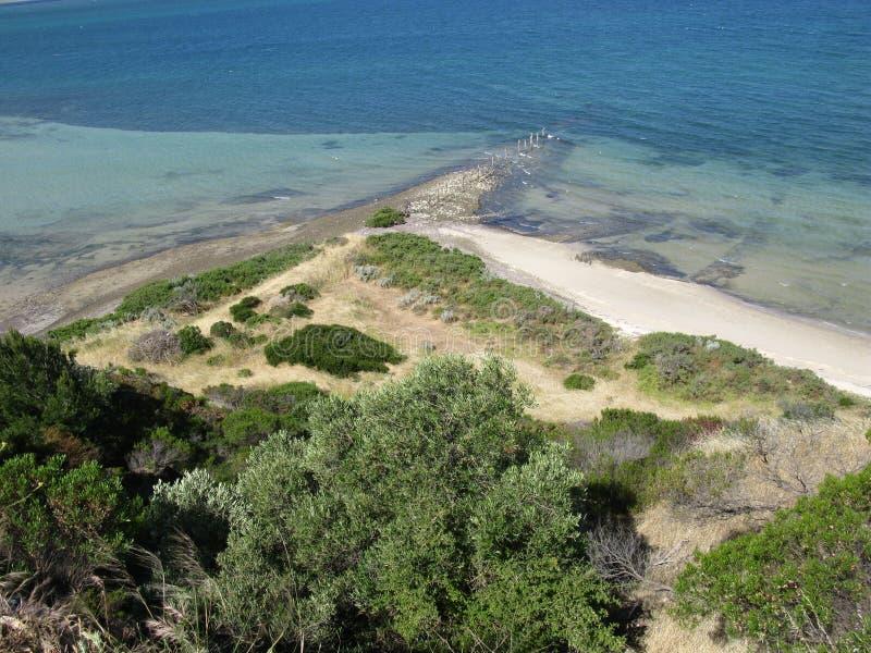 Point de Béatrice sur l'île de kangourou images libres de droits