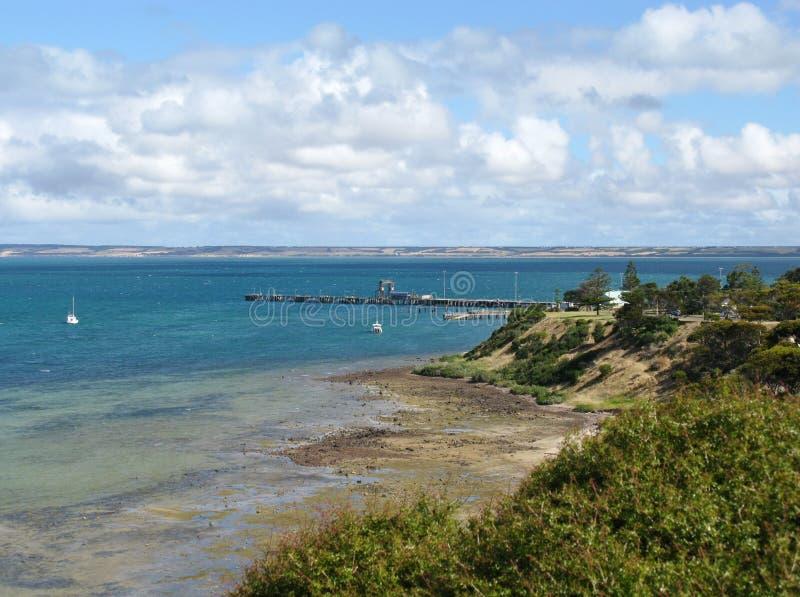 Point de Béatrice sur l'île de kangourou photo stock