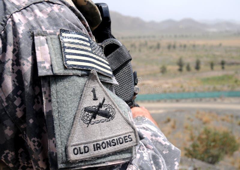 Point de contrôle/observation au cadre afghan 4 images libres de droits