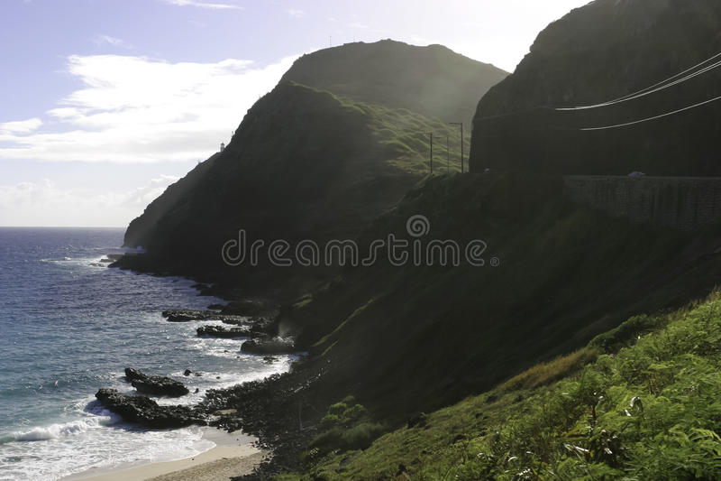 Point de Makapuu, Hawaï photos stock