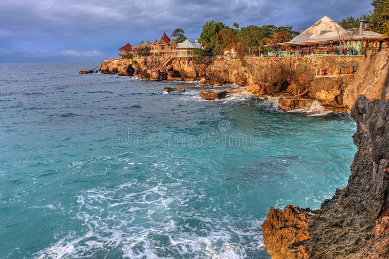 Point de 3 piqués, Negril, Jamaïque image libre de droits