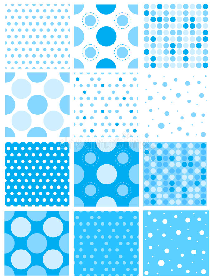 Point de polka bleu illustration stock