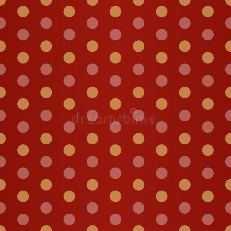 Point de polka jaune rouge illustration de vecteur