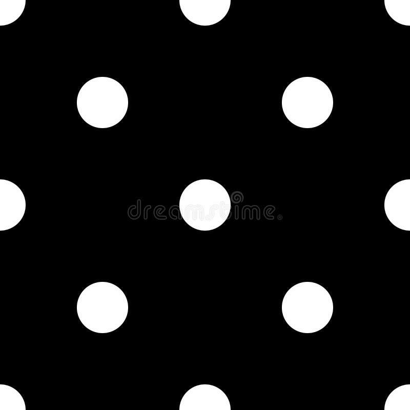 Point de polka noir et blanc sans couture ENV 10 illustration stock