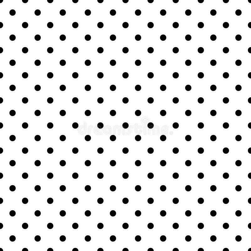 Point de polka noir et blanc sans couture ENV 10 illustration libre de droits