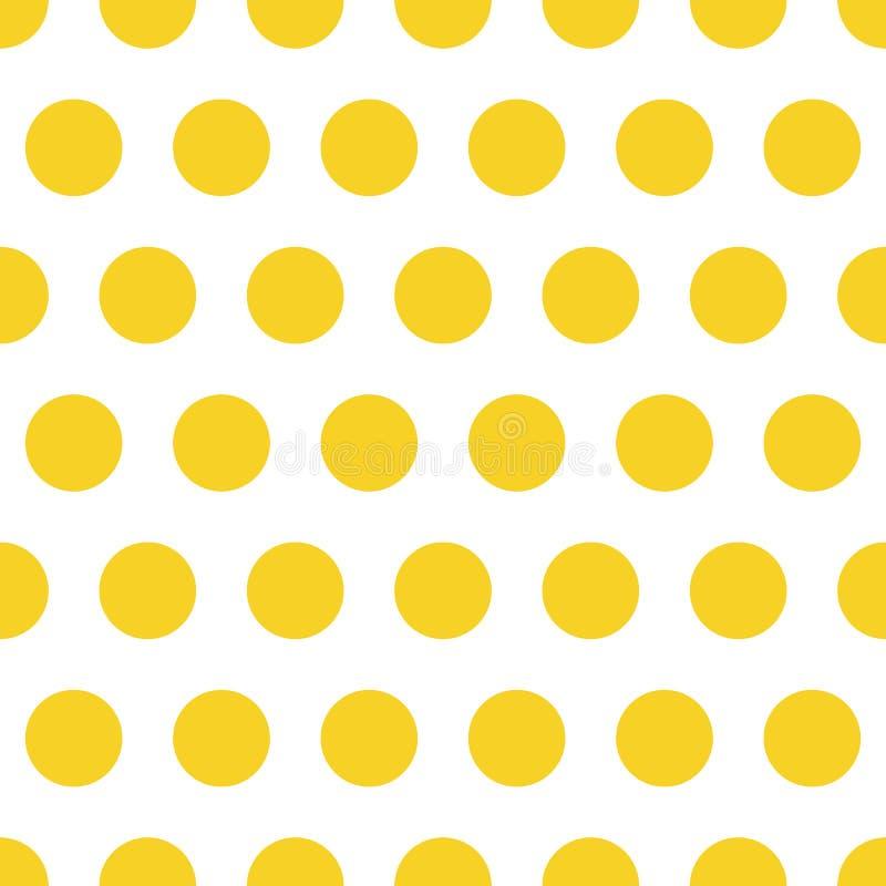 Point de polka sans couture de fond de mod?le dans la couleur orange photos libres de droits