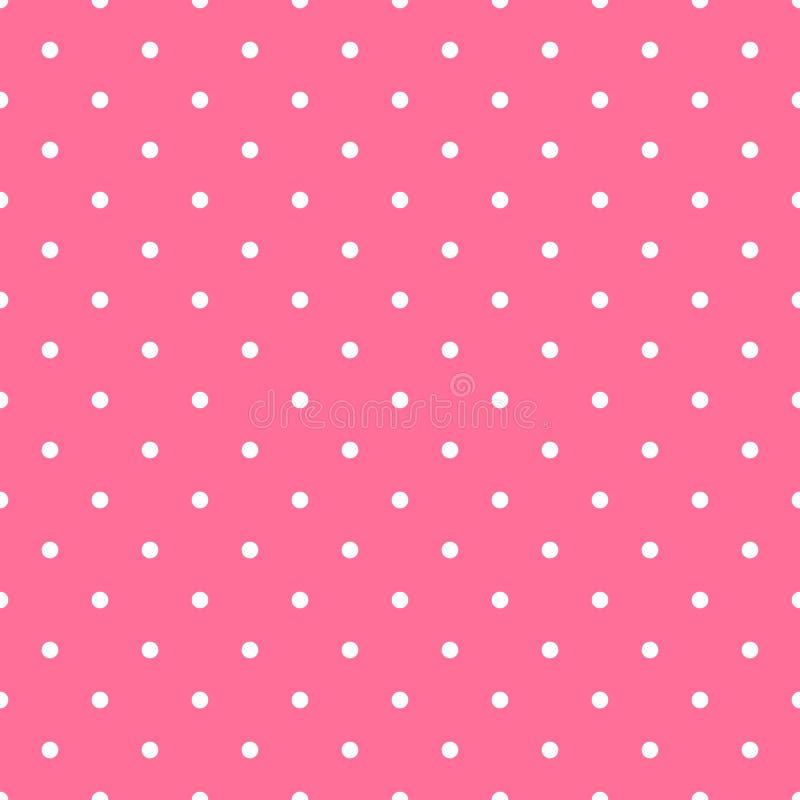 Point de polka sans couture de fond de mod?le dans la couleur rose photographie stock