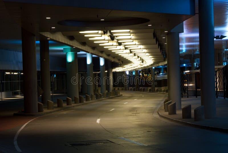 Point de raccordement de ville la nuit photos stock