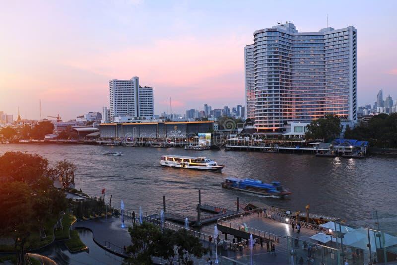 Point de repère de bâtiments à l'icône Siam photo stock