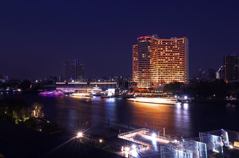 Point de repère de bâtiments à l'icône Siam image stock