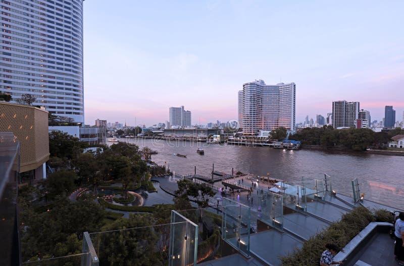 Point de repère de bâtiments à l'icône Siam photographie stock libre de droits