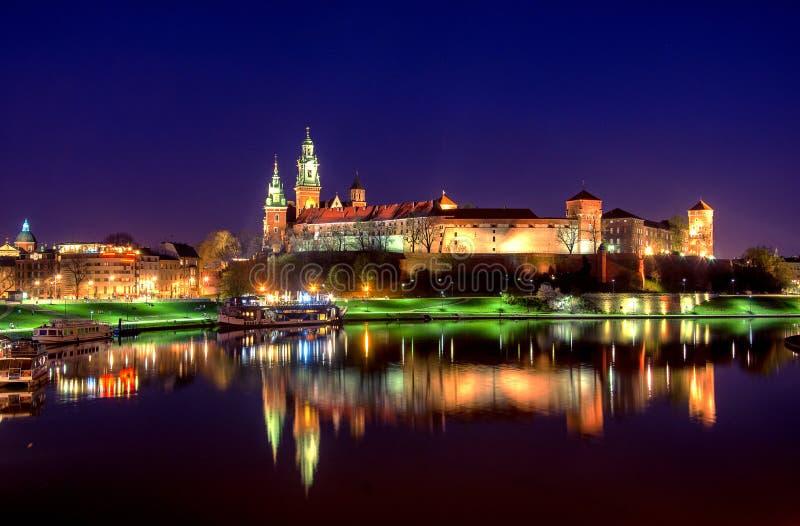 Point de repère célèbre de château de Wawel à Cracovie images stock