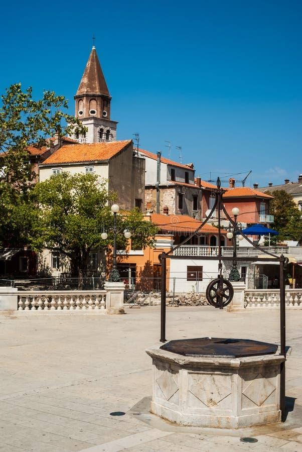 Point de repère de cinq Wells de Zadar, Croatie photo libre de droits