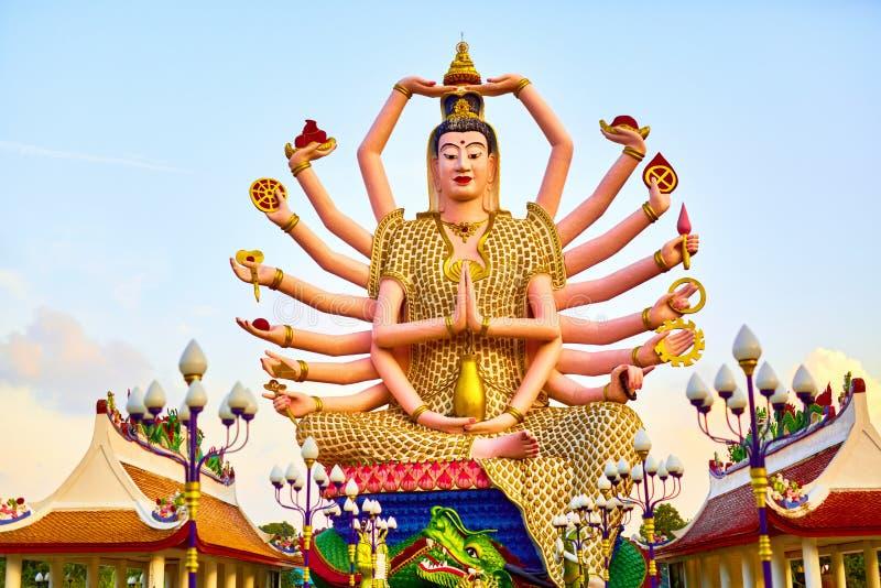 Point de repère de la Thaïlande Temple de Guan Yin Statue At Big Buddha Buddhis photo libre de droits