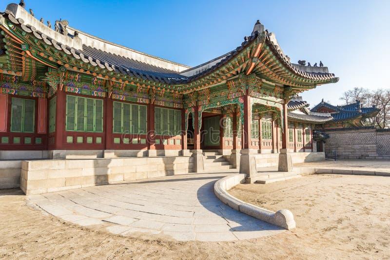 Point de repère de palais et de Huwon de Changdeokgung de Séoul, Corée du Sud images libres de droits