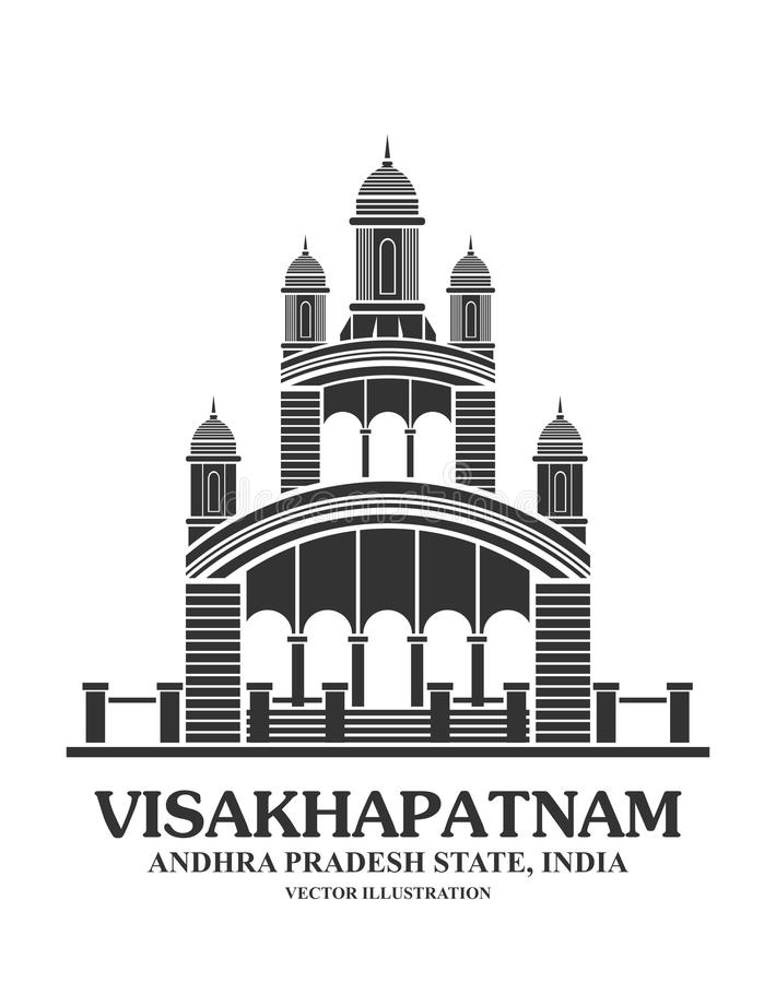 Point de repère de temple de Kali dans Visakhapatnam illustration libre de droits