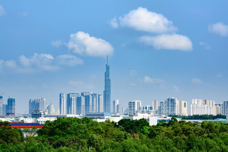 Point de repère 81, gratte-ciel grand superbe en Ho Chi Minh City ou Saigon, Vietnam photo stock