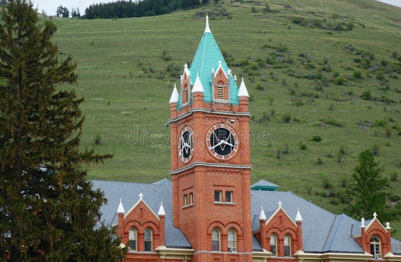 Point de repère de Missoula depuis 1898 - Montana image stock