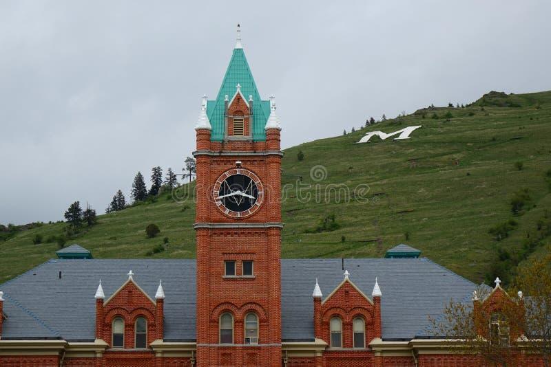 Point de repère de Missoula depuis 1898 - Montana images stock
