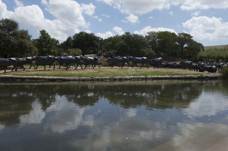 Point de repère pionnier de plaza à Dallas, TX images stock