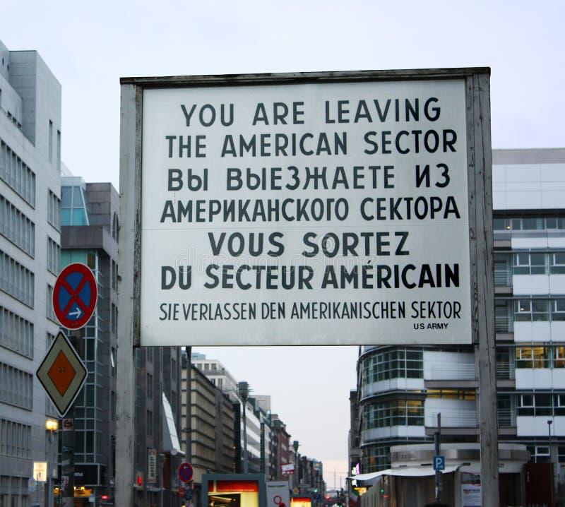 Point de reprise Charlie - Berlin image libre de droits