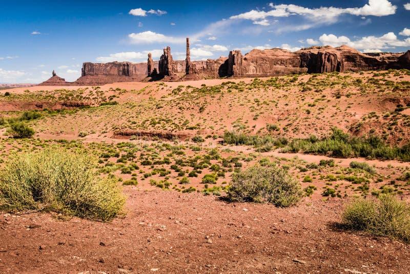 Point de ressorts de sables sur la vallée de monument image libre de droits