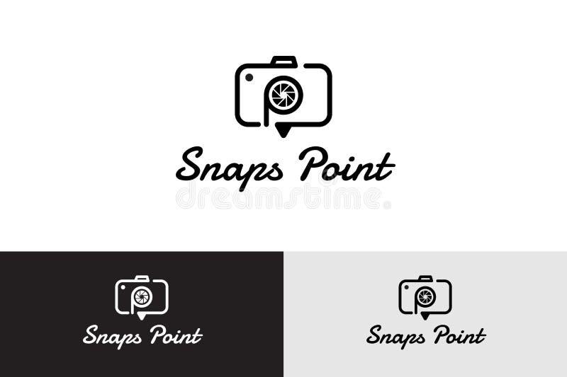 Point de ruptures avec l'appareil-photo Logo Illustration illustration stock