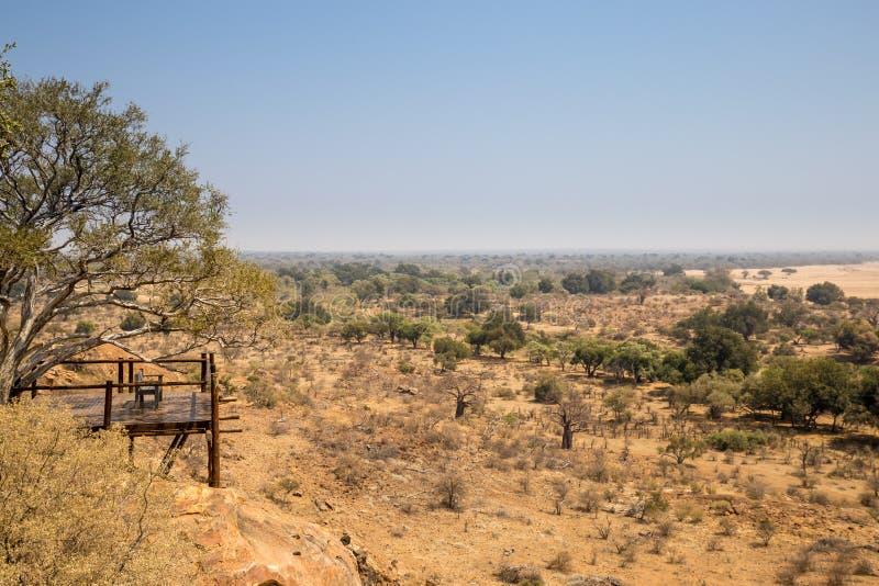 Point de surveillance en parc national de Mapungubwe, Afrique du Sud image libre de droits