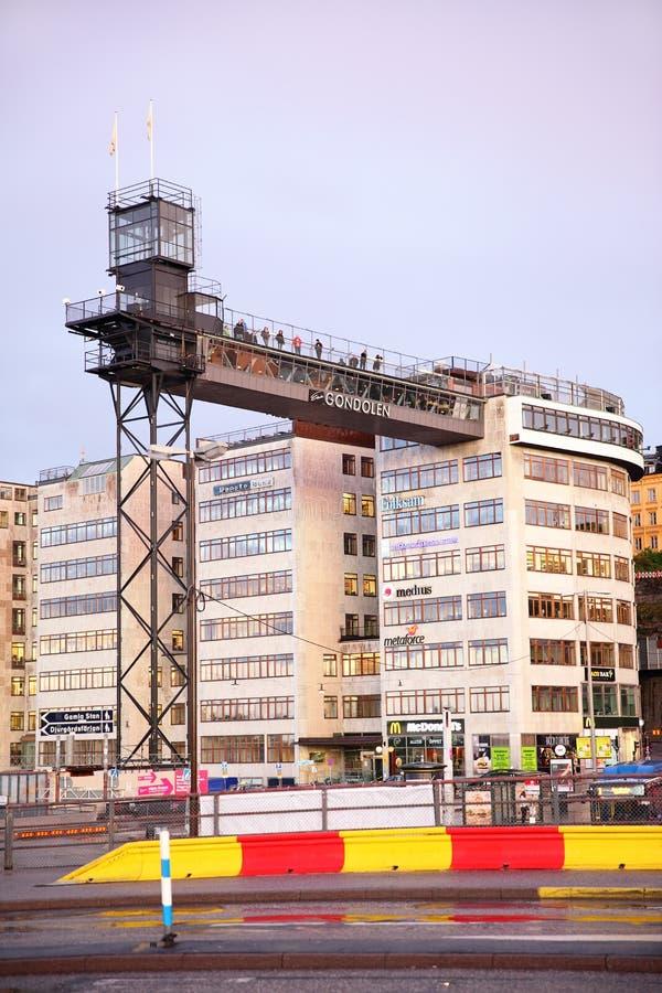 Point de visionnement à Stockholm images libres de droits
