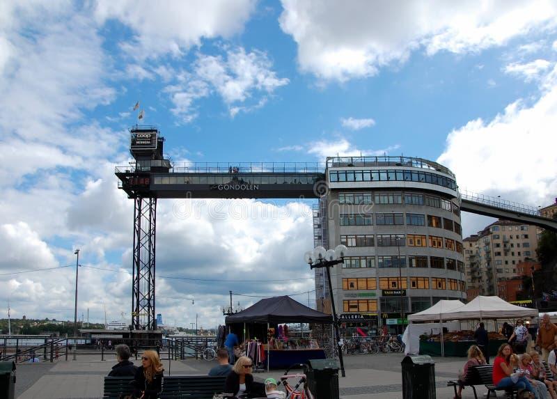 Point de visionnement en haut d'ascenseur Katarinahissen à Stockholm photo stock