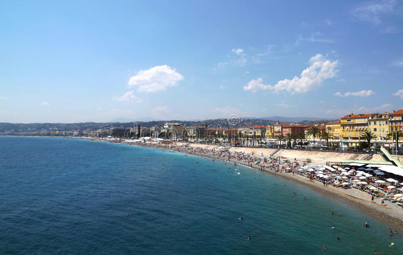 Point de vue à Nice, Frances photos stock
