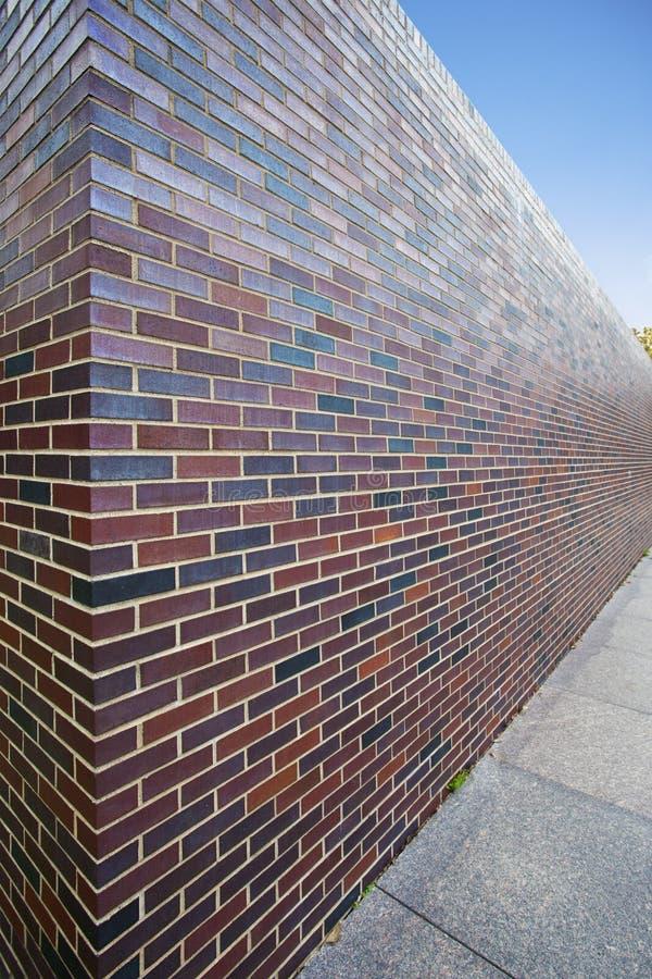 Point de vue abstrait de mur de briques grand photo libre de droits