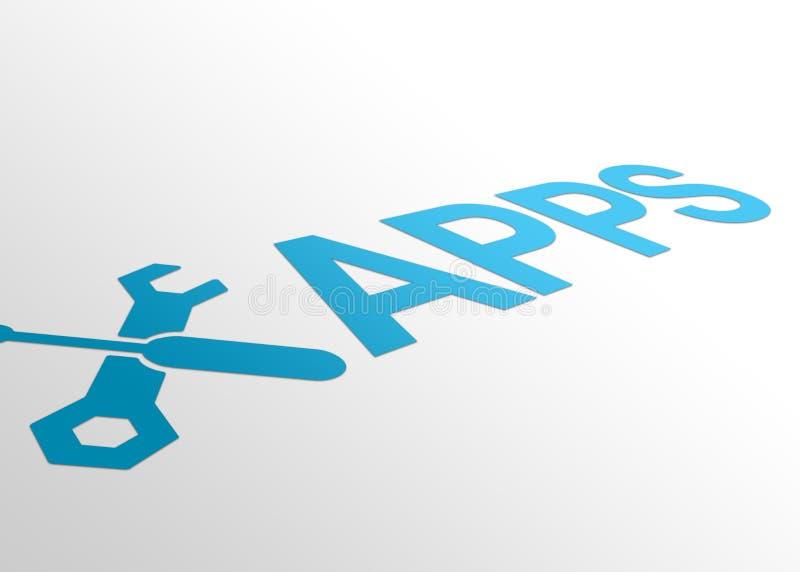 Point de vue Apps illustration libre de droits