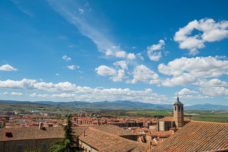 Point de vue d'Avila ambles d'Espagne, Valle, Santiago Church, couvent de Nuestra Senora de Gracia photos libres de droits