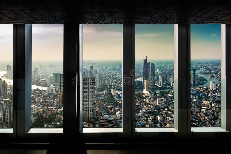 Point de vue d'intérieur de paysage urbain image libre de droits