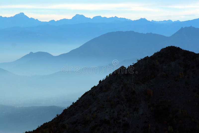 Point de vue de brume photographie stock