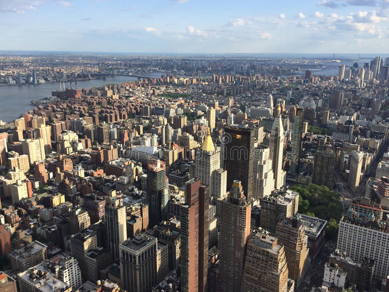 Point de vue de New York City photos stock