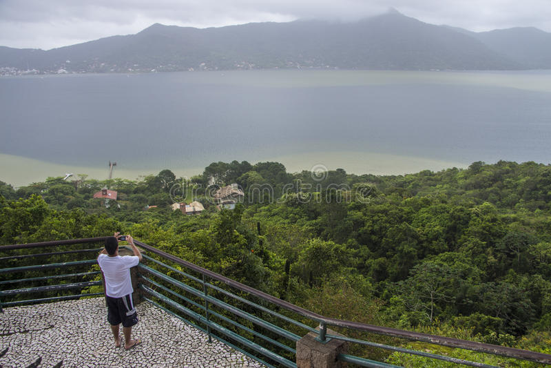 Point de vue du lac Conceição - Florianópolis/SC - le Brésil photos stock