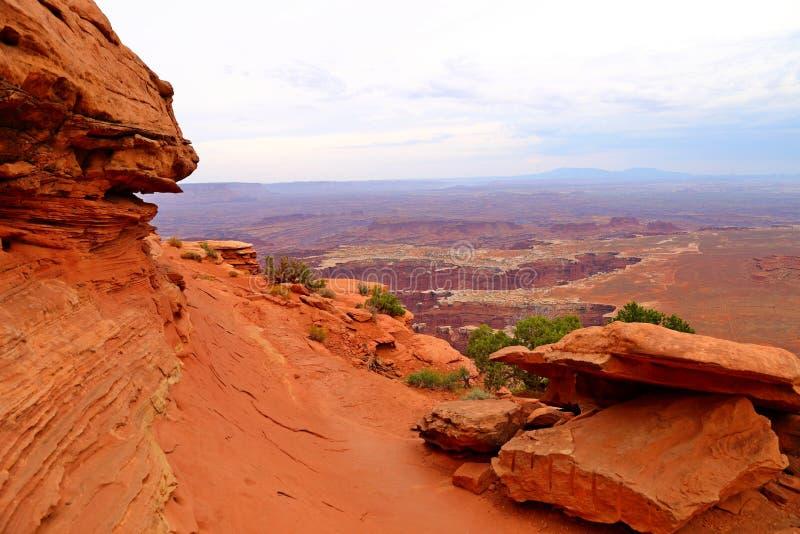 Point de vue grand, île dans le secteur de ciel, parc national de Canyonlands photo libre de droits