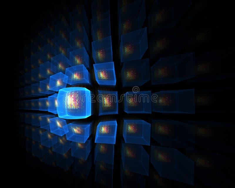 point de vue lumineux cubique bleu illustration libre de droits