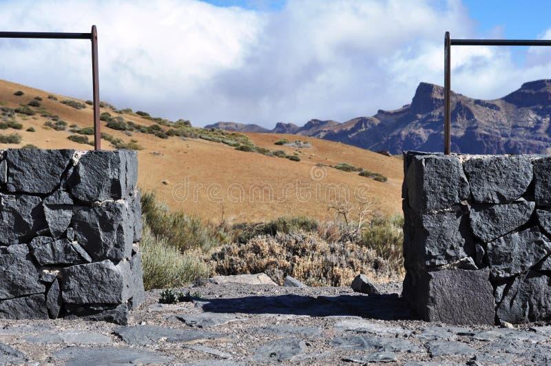 Point de vue, secteur de montagne, Teide, Ténérife photo libre de droits