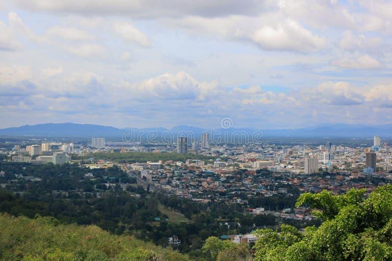 Point de vue supérieur de Hat Yai images stock