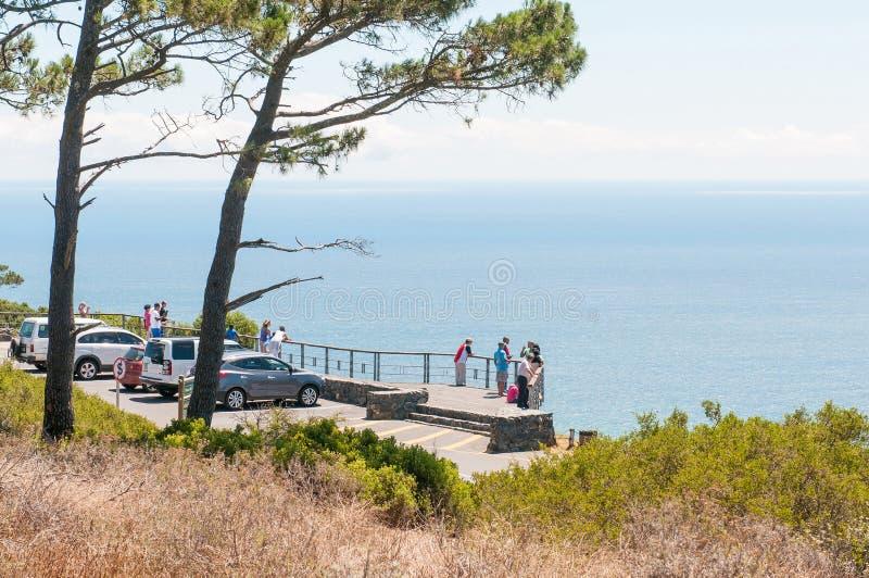 Point de vue sur la colline de signal à Cape Town image stock