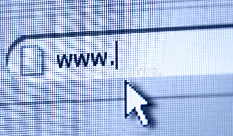 Point de WWW photos libres de droits