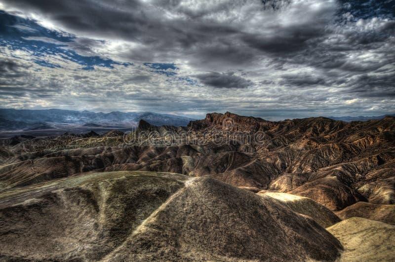 Point de Zabriskie à la chaleur extrême, Death Valley, Etats-Unis, image de HDR photos stock