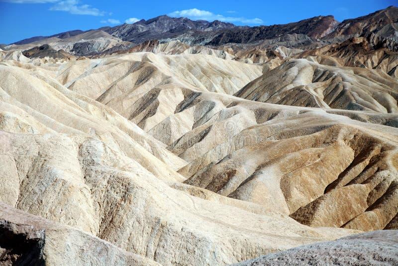 Point de Zabriskie, parc national de Death Valley, Etats-Unis, la Californie images libres de droits