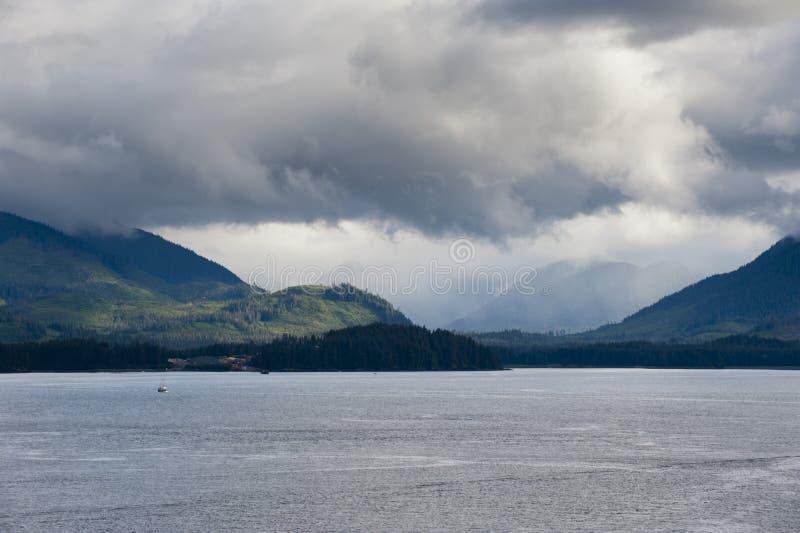 Point glacial Alaska de détroit photo libre de droits