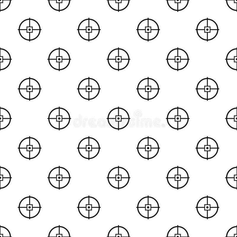 Point gun aim pattern seamless vector. Repeat geometric for any web design vector illustration