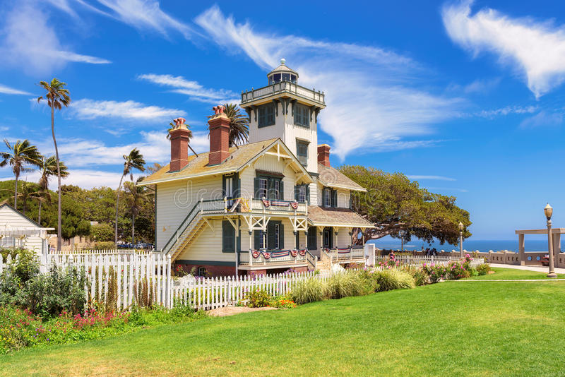 Point historique Fermin Lighthouse ; San Pedro, la Californie photo libre de droits