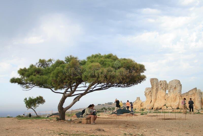Point of interest. Ancient temple on Malta. Point of interest stock photo